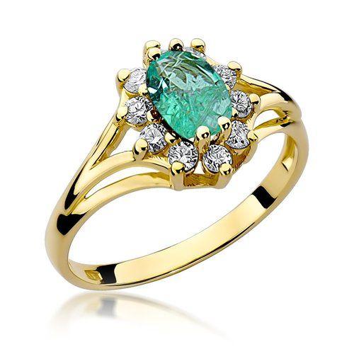 pierścionek ze szmaragdem złoty