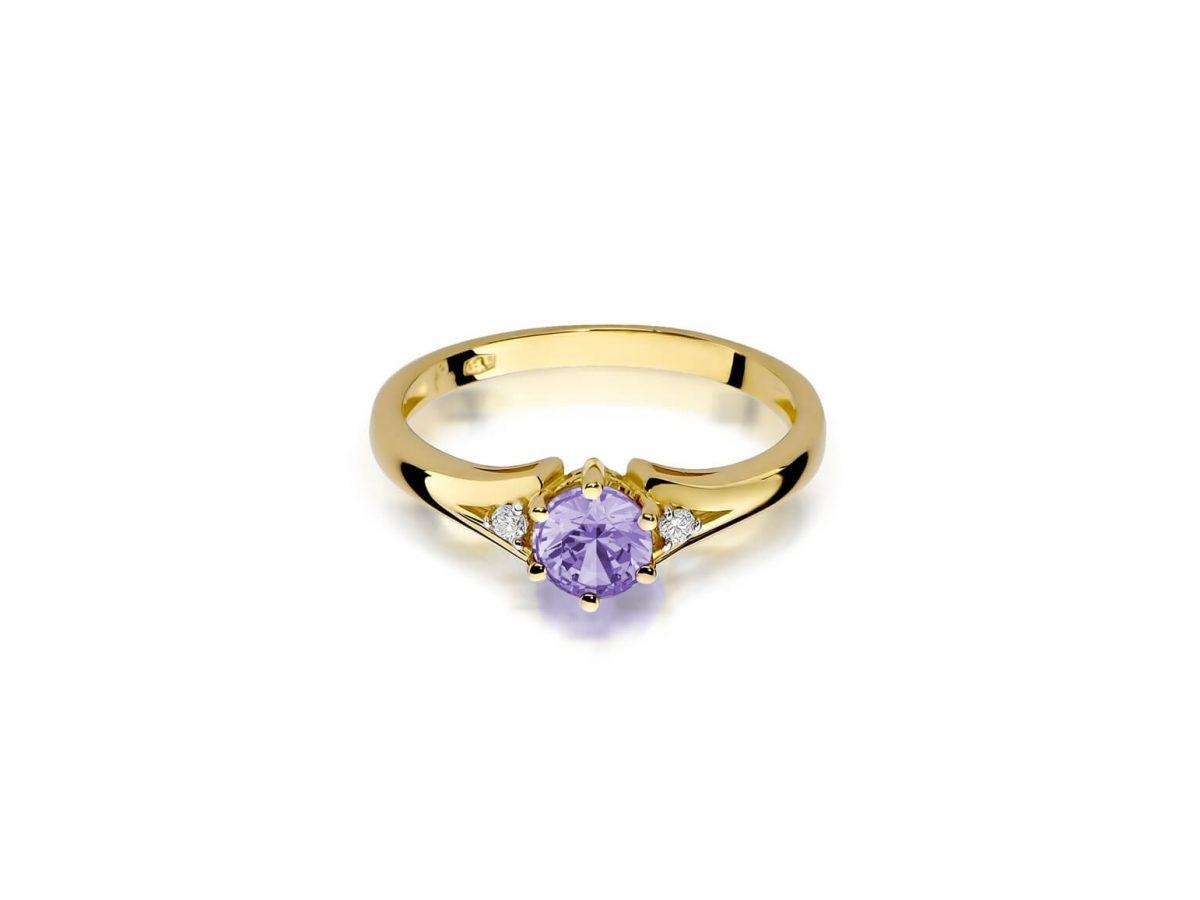 ametyst pierścionek
