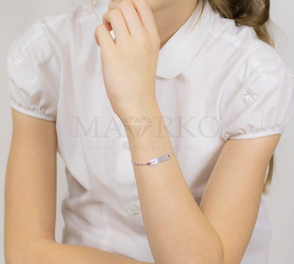 bransoletka dla dziecka z miejscem na grawer